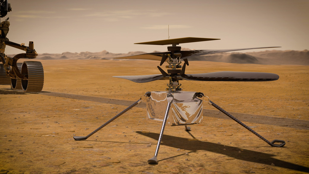 Mars Helicopter da NASA fará a primeira tentativa de vôo no domingo -  Engenharia é:
